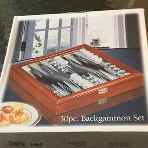 New 30 Piece Never Opened Backgammon Set